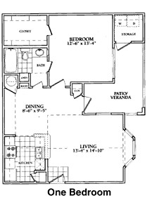 899 sq. ft. to 911 sq. ft. B floor plan