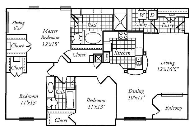 1,535 sq. ft. G floor plan