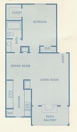 684 sq. ft. A5 floor plan