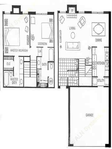 1,325 sq. ft. C floor plan